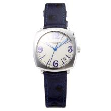 Vacheron Constantin Historiques with White Dial-Blue Leather Strap