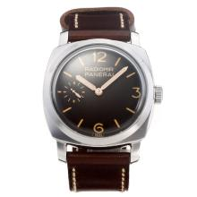 Panerai Radiomir Unitas 6497 Movement with Brown Dial-Leather Strap