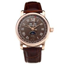 Montblanc Classic Automatic Rose Gold Case with Brown Dial-Leather Strap