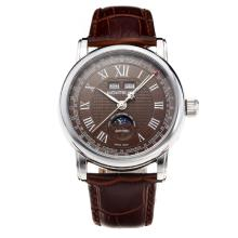 Montblanc Classic Automatic with Brown Dial-Leather Strap