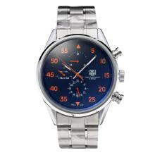 Tag Heuer Carrera CAL.1887 Space X Automatic with Black Dial S/S-Orange Markers