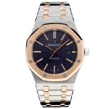 Audemars Piguet Royal Oak Swiss ETA 2824 Automatic Two Tone with Black Dial-Sapphire Glass-1