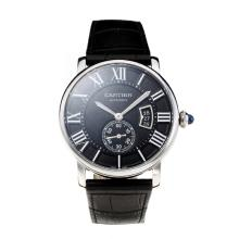 Cartier Calibre de Cartier Automatic with Black Dial-Same Chassis as Swiss Version