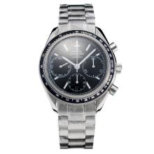 Omega Speedmaster Chronograph Swiss Valjoux 7750 Movement with Black Dial S/S-1