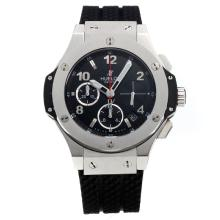 Hublot Big Bang Chronograph Swiss Valjoux 7750 Movement with Black Dial-Rubber Strap