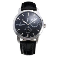 Vacheron Constantin Working Power Reserve Automatic with Black Dial-Leather Strap