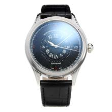 Montblanc Classic Automatic with Black Dial-Leather Strap