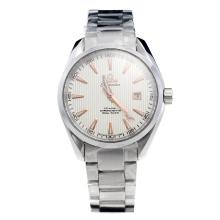 Omega Seamaster Swiss ETA 2836 Movement with White Dial S/S-1