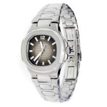 Patek Philippe Nautilus with Dark Gray Dial S/S-Lady Size