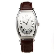 Patek Philippe Gondolo White Dial with Leather Strap-Lady Size-3