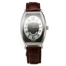 Patek Philippe Gondolo Black Dial with Leather Strap-Lady Size