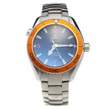 Omega Seamaster Swiss ETA 2836 Movement Orange Bezel with Black Dial S/S
