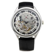 Vacheron Constantin Manual Winding with Skeleton Dial-Leather Strap-1