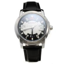 Blancpain MIYOTA 9015 Automatic Movement with White/Black Dial-Leather Strap