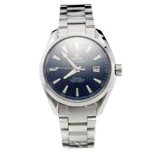 Omega Seamaster MIYOTA 9015 Automatic Movement with Blue Dial S/S