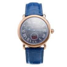 Cartier Rotonde De Cartier Watch With Rose Gold Case And Blue Dial