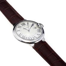 Cartier Ballon Bleu de Cartier Swiss ETA Movement With White Dial And Brown Leather Strap
