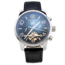 Montblanc Time Walker Automatic With Black Checkered Dial-Black Leather Strap