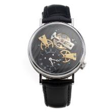 Breguet No.568 Tourbillon Automatic with Black Dial-Leather Strap