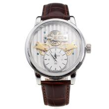 Jaeger-Lecoultre Tourbillon Automatic with Silver Dial-Leather Strap