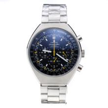 Omega Speedmaster Working Chronograph with Black Dial S/S-Yellow Edition