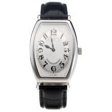 Patek Philippe Gondolo White Dial with Leather Strap-Lady Size