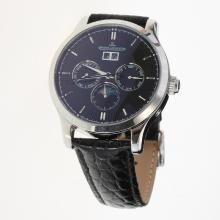 Jaeger-Lecoultre Master Control Automatic with Black Dial-Leather Strap