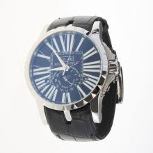 Roger Dubuis Excalibur Automatic with Black Dial-Leather Strap-1