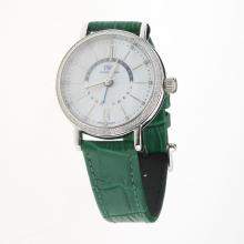 IWC Portofino GMT Automatic Diamond Bezel with MOP Dial-Green Leather Strap