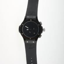 Hublot Big Bang Automatic PVD Case Ceramic Bezel with Black Dial-Rubber Strap-2