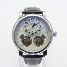 Montblanc Nicolas Rieussec Twin Barrels Tourbillon Automatic with White Dial-Leather Strap-1