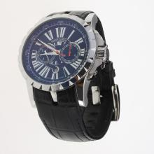 Roger Dubuis Excalibur Automatic with Black Dial-Leather Strap