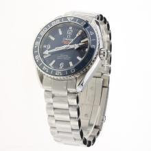 Omega Seamaster Co-Axial Working GMT Swiss CAL 8605 Movement Ceramic Bezel with Blue Dial S/S-1