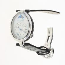 Breguet Reine de Naples with White Dial-Leather Strap