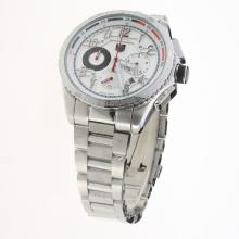 Tag Heuer Carrera CAL. HEUER 01 Working Chronograph with White Dial S/S