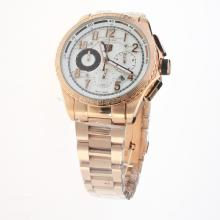 Tag Heuer Carrera CAL. HEUER 01 Working Chronograph Full Rose Gold with White Dial