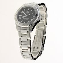 Tag Heuer Aquaracer Swiss ETA Movement Stick Markers with Black Dial S/S-Lady Size
