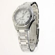 Tag Heuer Aquaracer Swiss ETA Movement Stick Markers with Silver Dial S/S-Lady Size
