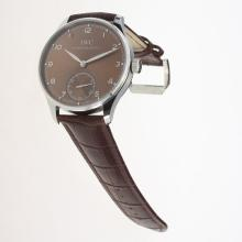 IWC Portuguese Manual Winding with Brown Dial-Leather Strap