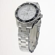 Tag Heuer Aquaracer Big Date Working Chronograph with White Dial S/S