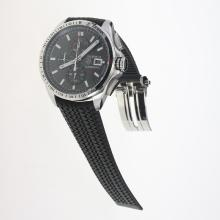 Tag Heuer Carrera Calibre 16 Working Chronograph with Black Dial-Rubber Strap