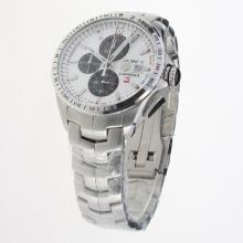 Tag Heuer Carrera Calibre 16 Working Chronograph with White Dial S/S