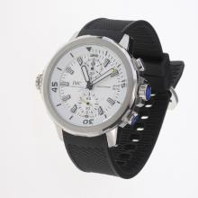 IWC Aquatimer Working Chronograph White Markers with White Dial-Rubber Strap