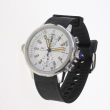 IWC Aquatimer Working Chronograph Yellow Markers with White Dial-Rubber Strap