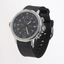 IWC Aquatimer Working Chronograph Yellow Markers with Black Dial-Rubber Strap