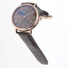 IWC Portofino Moonphase Automatic Rose Gold Case with Brown Dial-Leather Strap