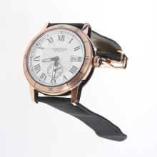 Cartier Ronde Croisière de Cartier Automatic Rose Gold Case with Silver Dial-Nylon Strap