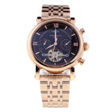 Patek Philippe Perpetual Calendar Tourbillon Automatic Full Rose Gold with Black Dial-1