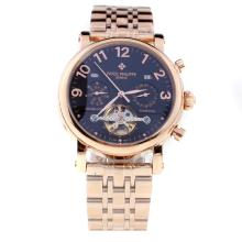Patek Philippe Perpetual Calendar Tourbillon Automatic Full Rose Gold with Black Dial