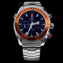Omega Seamaster Swiss 9300 Chronograph Automatic Movement Orange Bezel with Black Dial S/S